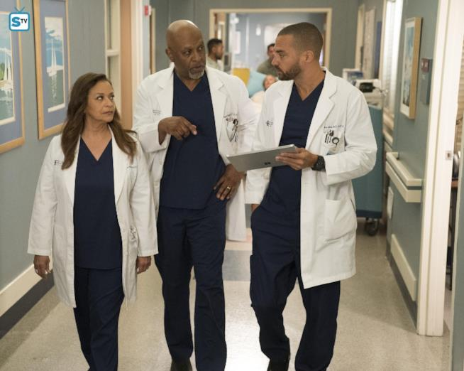 Jackson, sua madre e il dottor Webber in Grey's Anatomy 14x16