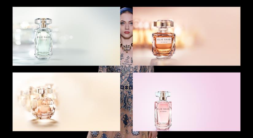I profumi Elie Saab: le parfum, le parfum intense, Rose Couture e l'eau Couture