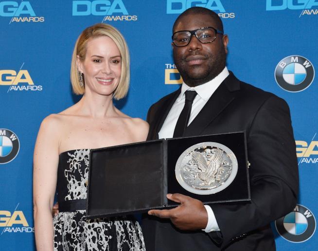Sarah Paulson e il regista di 12 anni schiavo Steve McQueen