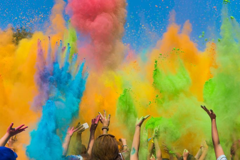 Un'esplosione di colori.