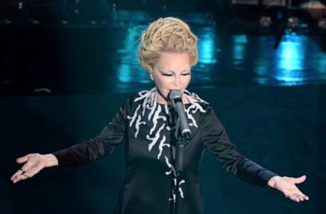 Patty Pravo nell'ultima esibizione a Sanremo