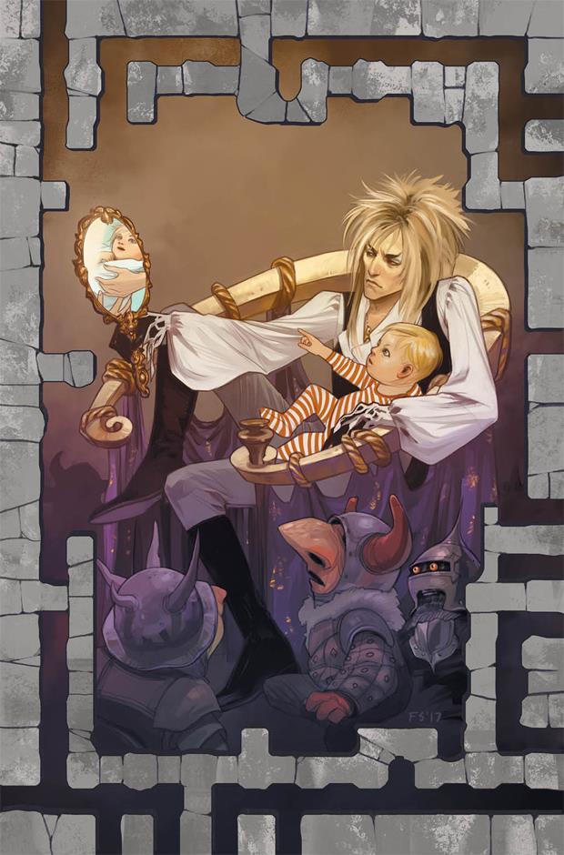 La copertina della prima uscita del prequel a fumetti di Labyrinth con Jareth