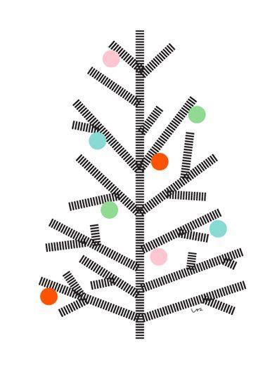 Albero natalizio stilizzato da parete