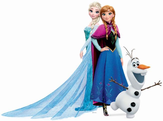 I protagonisti di Frozen - Il Regno di Ghiaccio