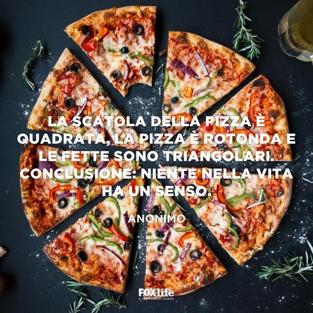 Pizza tonda a fette