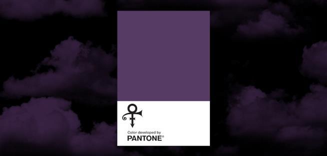 Il color viola dedicato a Prince  da Pantone