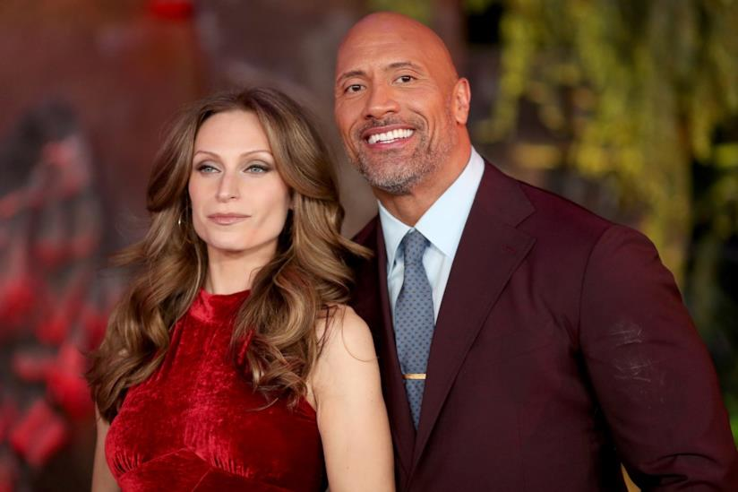 Lauren Hashian e Dwayne Johnson