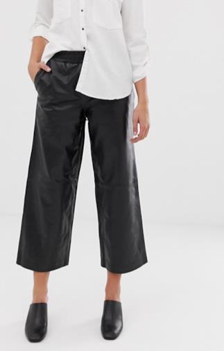 Pantaloni a palazzo corti da donna f15b7d97e50