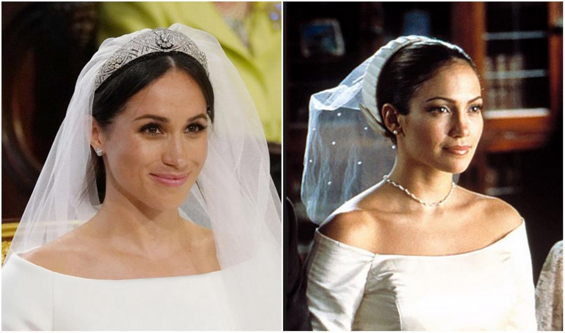 Collage tra Meghan Markle e Jennifer Lopez