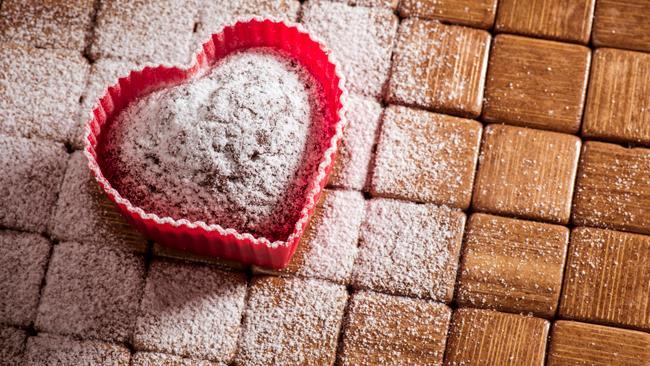 Muffin a forma di cuore per la festa della mamma