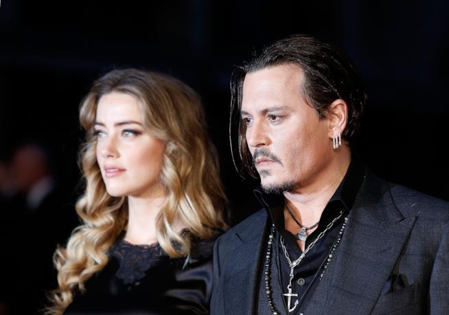 Amber Heard e Johnny Depp quando erano ancora sposati