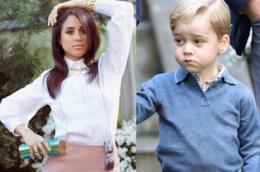 Il principe George e Meghan Markle