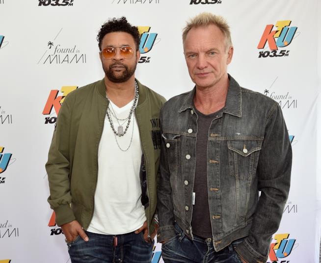 I cantanti Shaggy e Sting