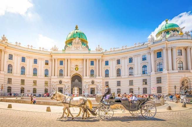 Veduta dell'Alte Hofburg a Vienna