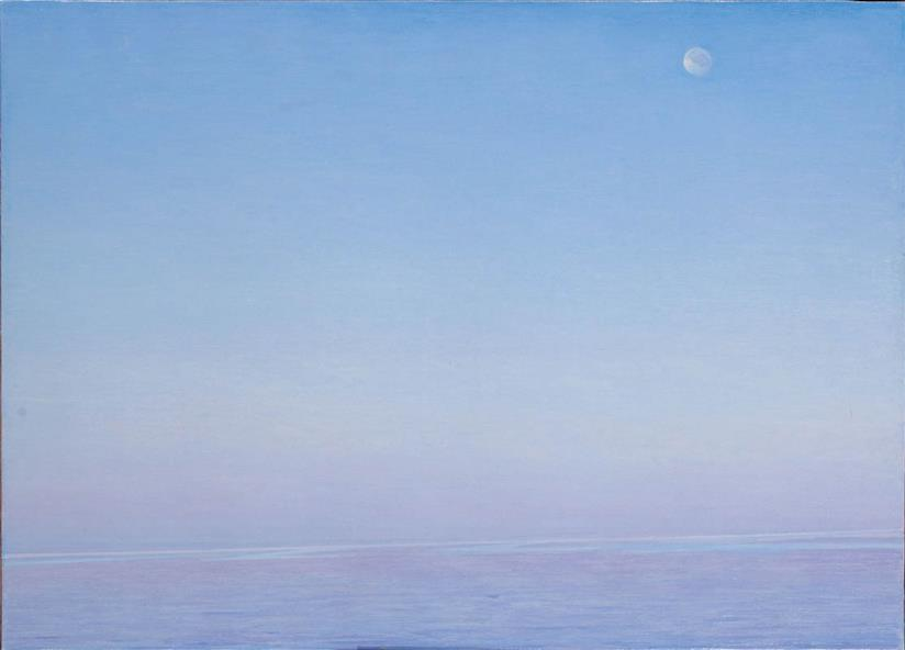 Luna d'agosto (cat. 29), 2005, olio su tela, 76 x 105 cm, Collezione privata, Roma