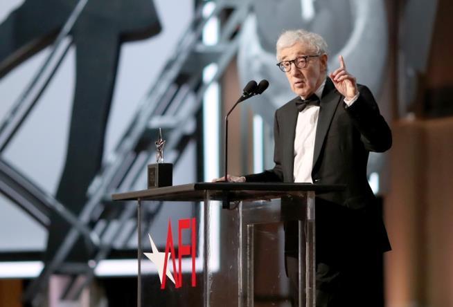 Woody Allen nel corso di una recente apparizione pubblica