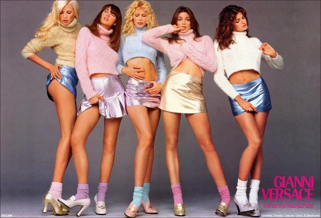 Le quattro top anni '90 per Versace