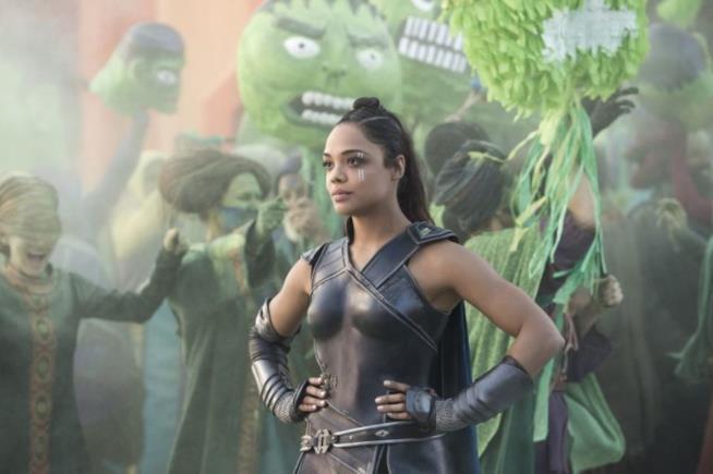 Tessa Thompson nel ruolo di Valkyrie in Thor: Ragnarok