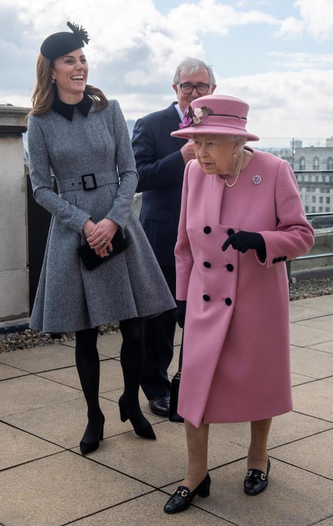 Kate Middleton e Regina a un evento ufficiale