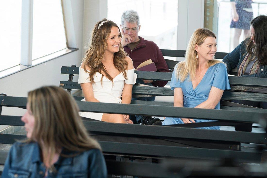 Una scena con Meredith e Jo dal finale di Grey's Anatomy 14