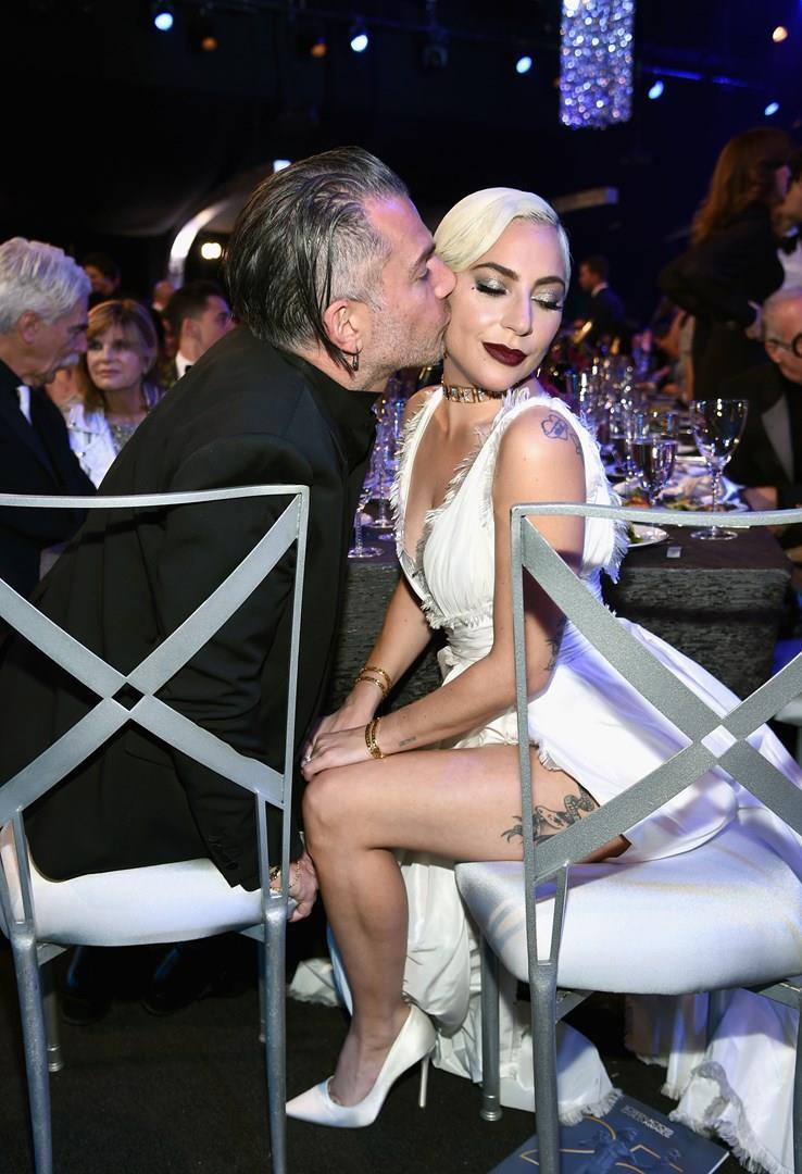 Lady Gaga e Christian Carino a una cena