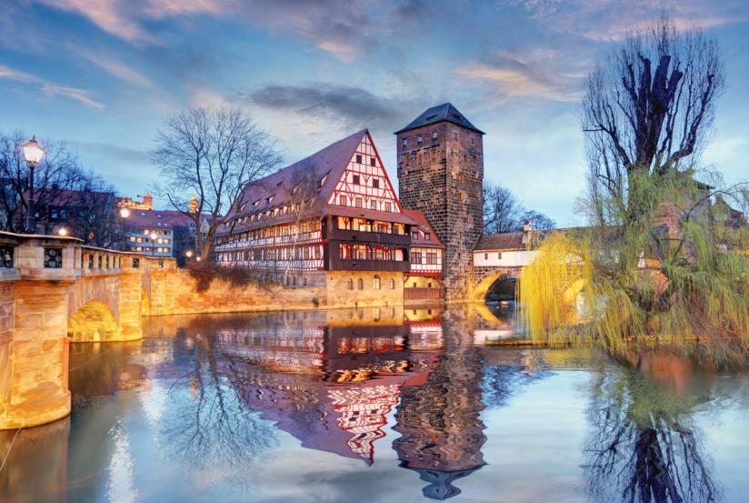 Dettaglio dell'Altstadt di Norimberga