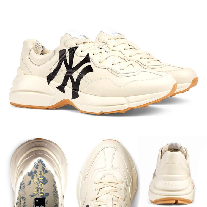 Sneaker Rhyton uomo con stampa NY Yankees
