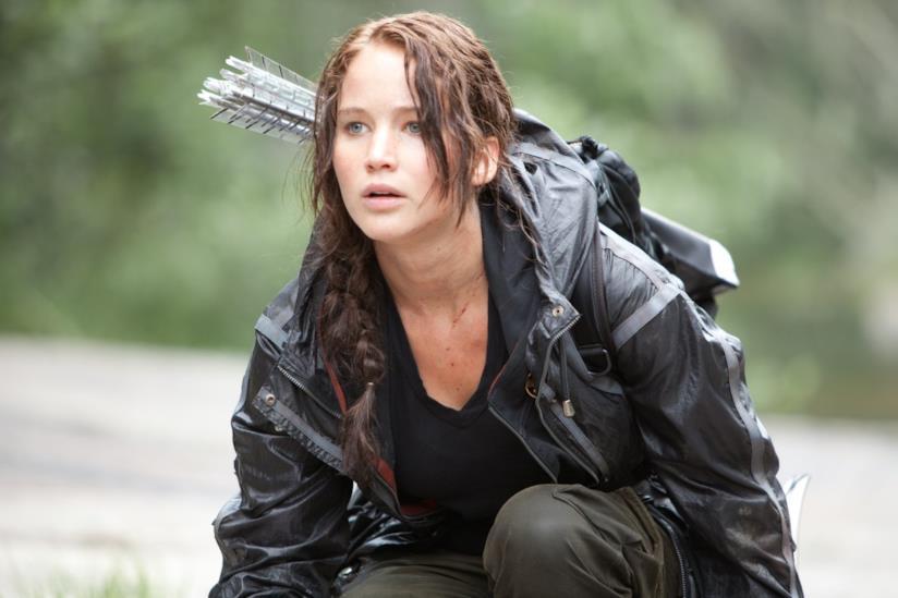 Jennifer Lawrence in una scena di Hunger Games