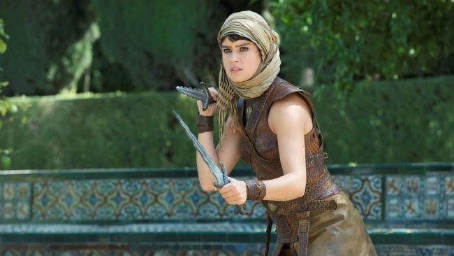 L'italo-americana Rosabell Laurenti Sellers in una scena della serie Il Trono di Spade