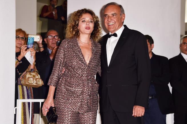 Alberto Barbera con Valeria Golino alla prima di Il colore nascosto delle cose