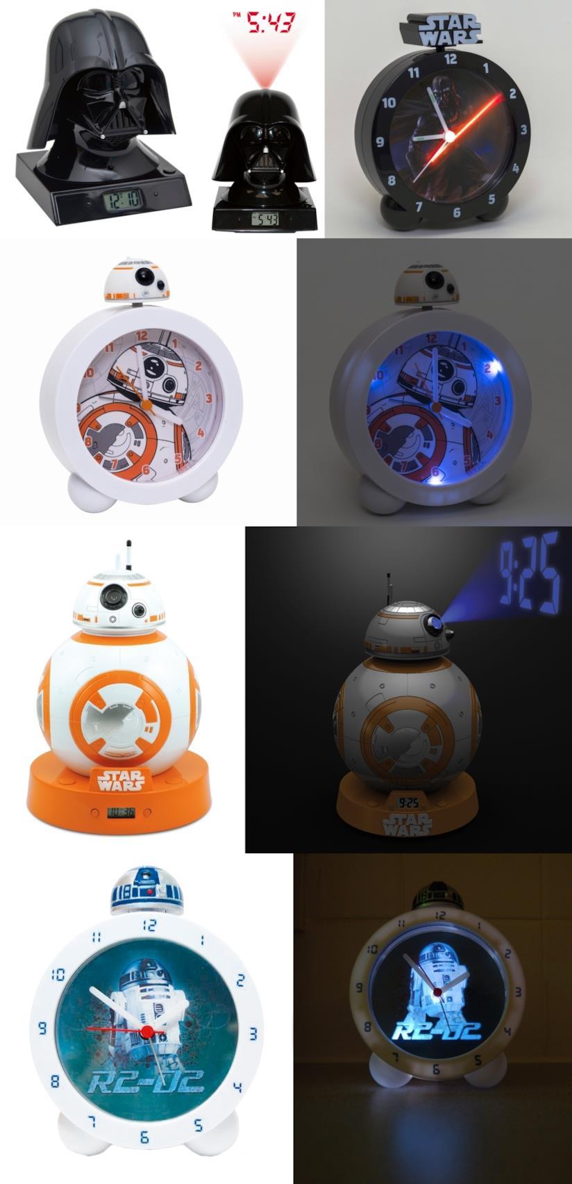 Sveglie del marchio Joy Toy con i personaggi di Star Wars
