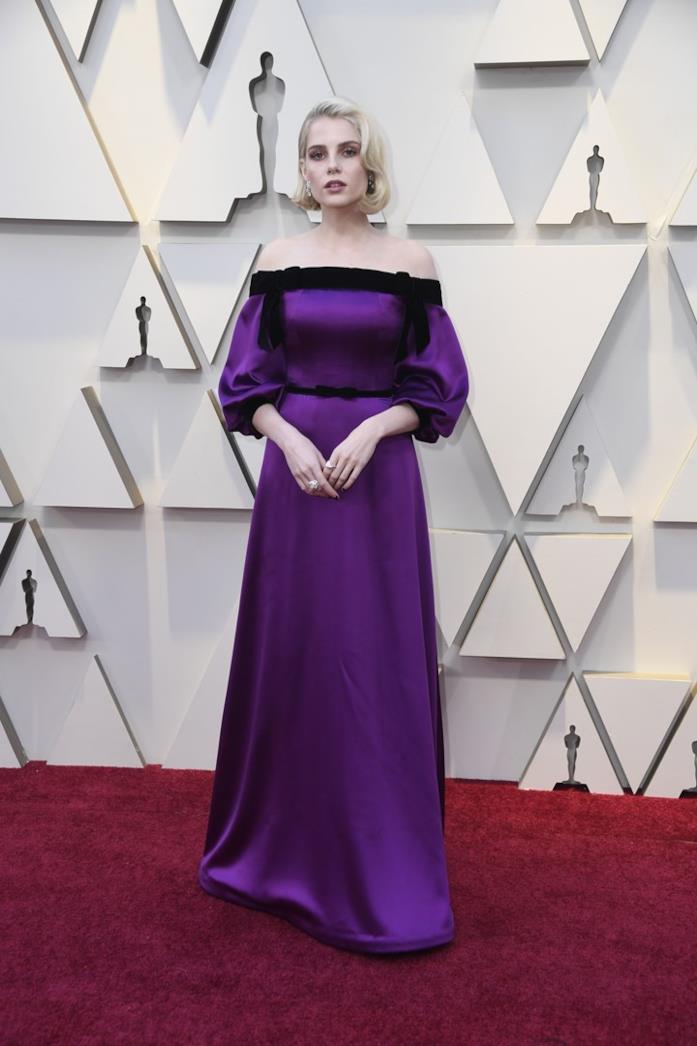 Lucy Boynton sul red carpet degli Oscar 2019