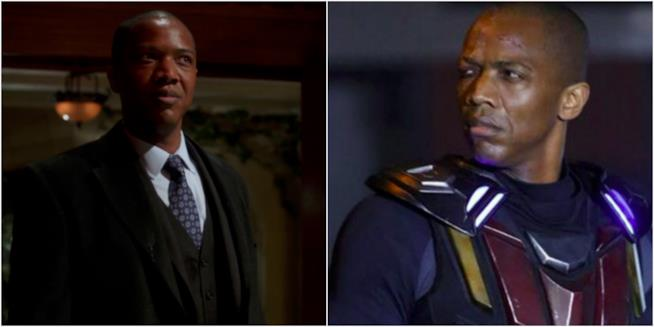 Collage di J. August Richards in serie DC e Marvel