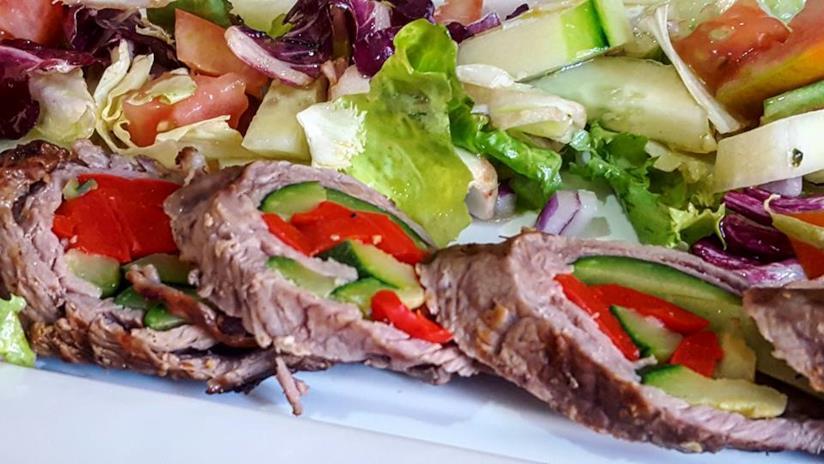 Fettine di carne con ripieno di verdura