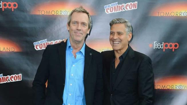 Hugh Laurie e George Clooney