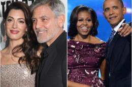 I Clooney e gli Obama