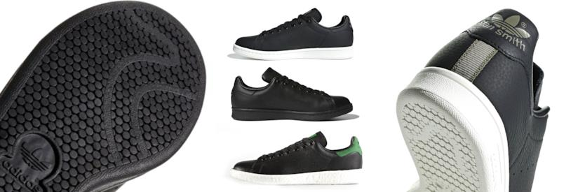adidas stan smith nere lucide