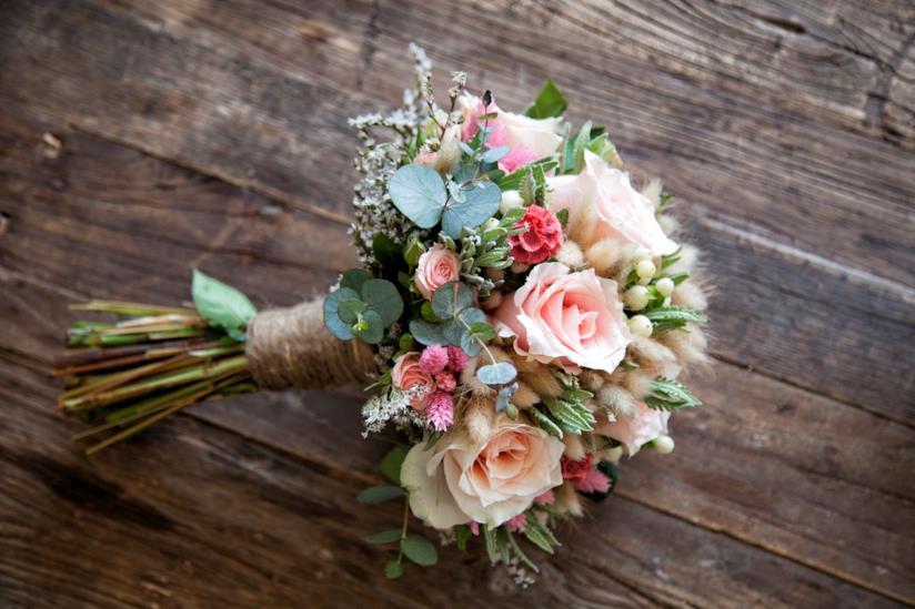 Bouquet sposa in colori rosati