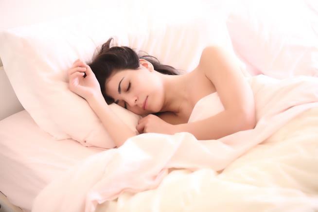 Una donna addormentata