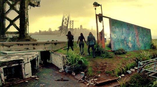 Un'immagine della San Francisco del futuro di The Shannara Chronicles