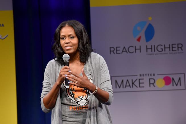 Michelle Obama durante una delle sue ultime apparizioni pubbliche