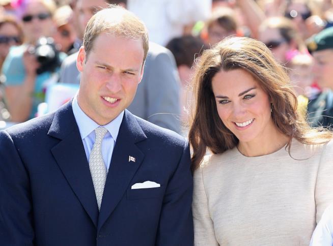 William e Kate durante un'uscita pubblica