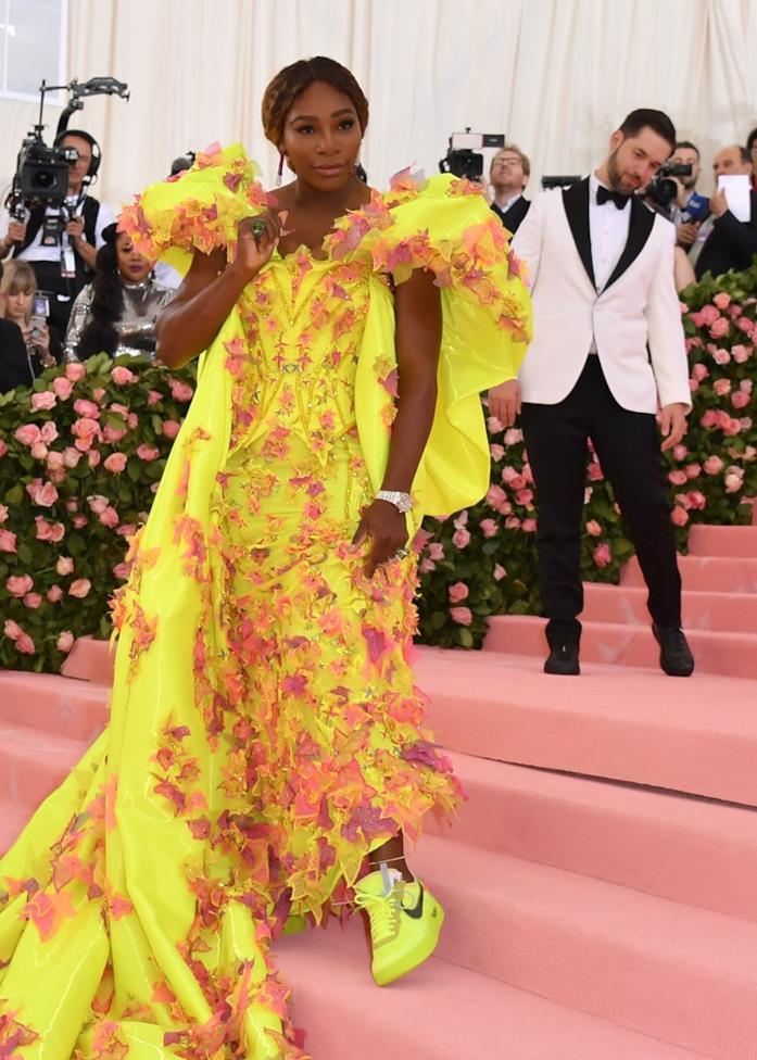 Serena Williams sul red carpet del MET Gala