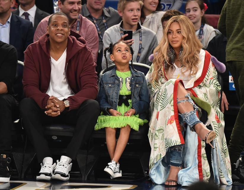 Jay Z e Beyoncé con la primogenita Blue Ivy
