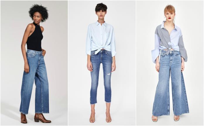 Dagli skinny alla zampa i jeans di Zara