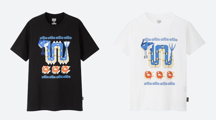T-shirt a tema pokemon bianca o nera