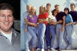 Brian Turk e il cast di Beverly Hills 90210