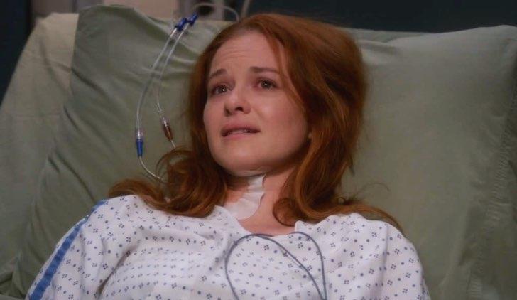 April in una scena di Grey's Anatomy