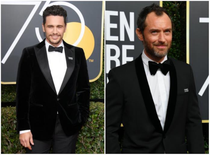 James Franco e Jude Law ai Golden Globes 2018