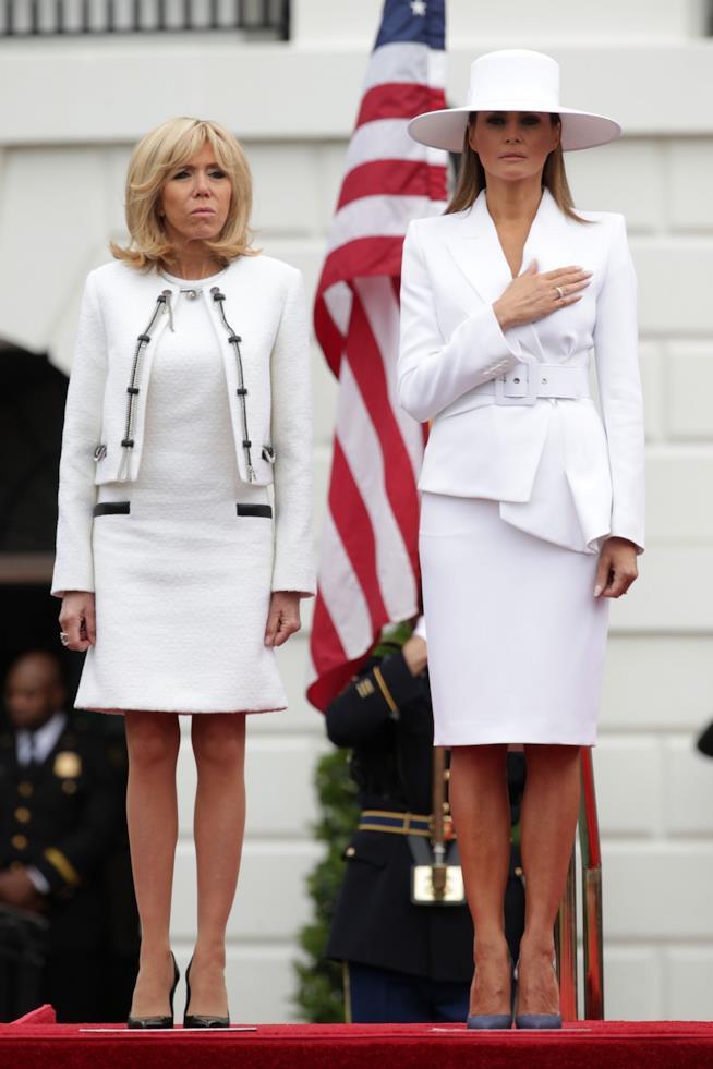 Brigitte Macron e Melania Trump alla Casa Bianca